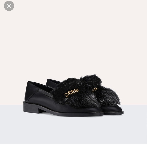 1ab2be353bc Maje leather loafers with detachable fur
